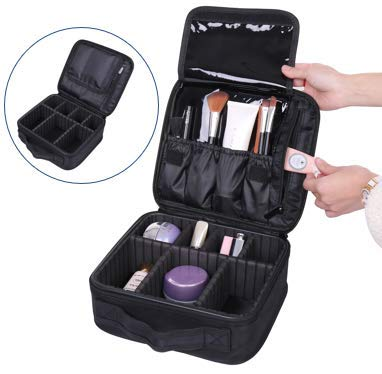 Travel Makeup Train Case and Cosmetics Organizer, Organizador de Maquillaje