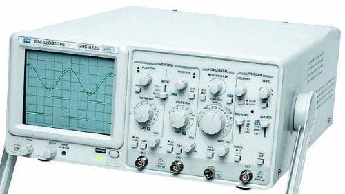 Instek GOS-622G General Purpose Analog Oscilloscope, 20MHz Bandwidth, 2 Channels, ALT Triggering, HoldOff Function