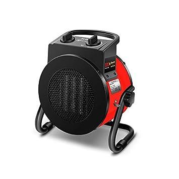nbvmngjhjlkjl Eco Quartz 2KW Electric Industrial Calentador de Ventilador Calentador doméstico Estufa Radiador Calentador Máquina para el Invierno - Rojo: ...