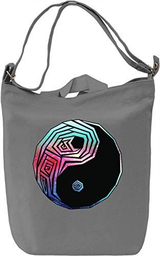 Galaxy Yin and yang Borsa Giornaliera Canvas Canvas Day Bag| 100% Premium Cotton Canvas| DTG Printing|