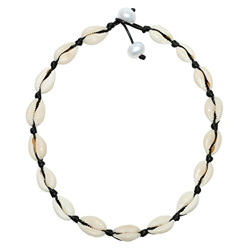 POTESSA Natural Shell Beads Handmade Hawaii Wakiki Beach Choker for Girls and Ladies by POTESSA