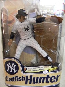 McFarlane Toys MLB Cooperstown Series 8 Action Figure Catfish Hunter (New York Yankees) Bronze Collector Level Chase