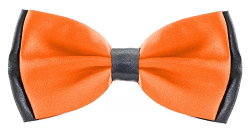 Flairs New York Little Gentleman's Kids Bow Tie (Mandarin Orange/Black [2 Tones])]()
