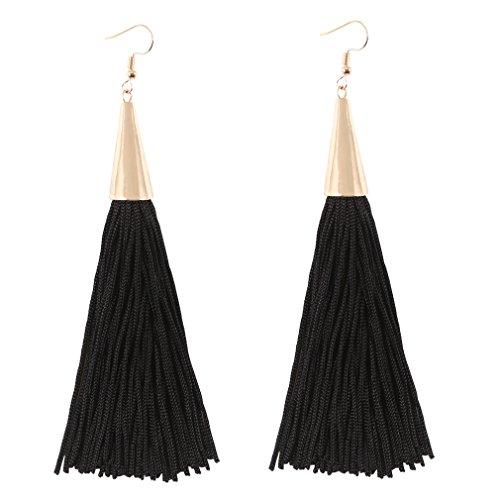 Boderier Awl Shape Tassel Dangle Earrings Fashion Celebrity Earrings for Party - Shop Fashion Celebrity