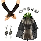 Ghost Bride Costume - Women's Corpse Bride Dress for Halloween and Dress up