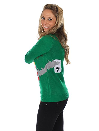 Amazon.com: Women's Ugly Christmas Sweater - Electrocuted Cat ...