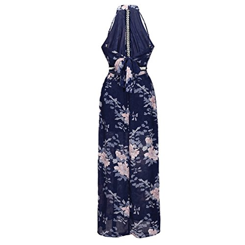 Sapphire Lihaer Sleeveless Sexy Summer Backless Print Casual Loose Dress Baggy Fashion Dress Beach Dress Women's f6xfq0S