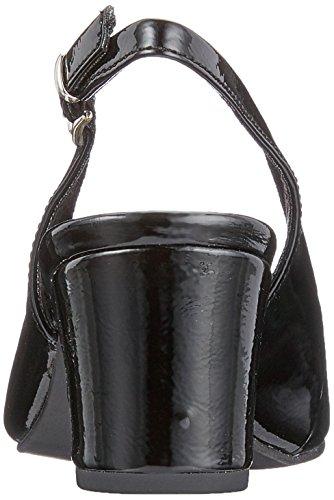 Marco Tozzi Damen 29600 Slingback Pumps Schwarz (Black Patent)