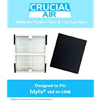 Idylis B HEPA Filter + Carbon Filter, Compared to Part # IAF-H-100B, IAFH100B, 302656, Designed & Engineered By Crucial Vacuum