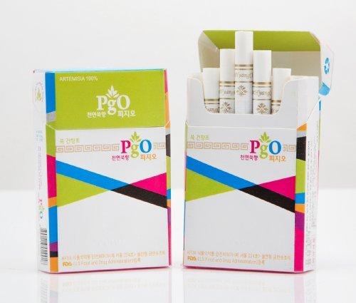 PgO Herbal Cigarettes: 100% Artemisia - no tobacco, no nicotine, no chemicals, all natural (10)