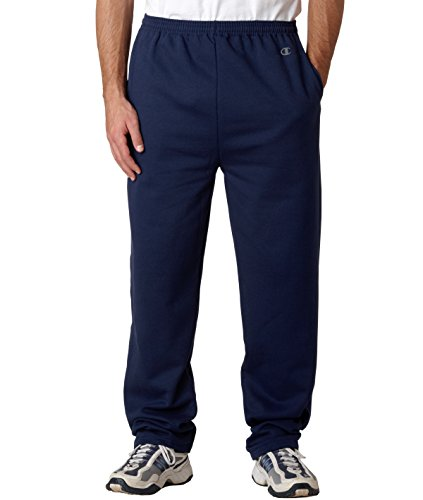 Champion Men's Open Bottom Eco Fleece Sweatpant, Navy, Small