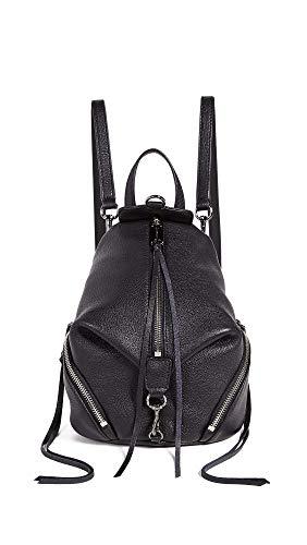 Rebecca Minkoff Women's Convertible Mini Julian Backpack, Black, One Size