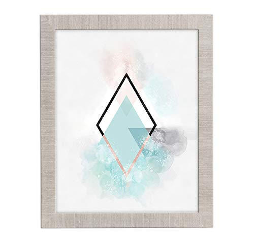 Framed 16x20 Photo (16x20 Picture Frame Modern Gray - Matted for 11x14, Frames by EcoHome)
