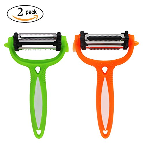 Hippih Citrus Lemon Zester & Cheese Peeler Kitchen Utensils(Green&Orange) XPD002