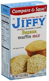 - Jiffy, Banana Muffin Mix, 7oz Box (Pack of 6)