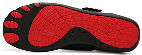 LINGTOM Wasserschuhe Männer Frauen Sport Turnschuhe Leichte Barfuß Quick Dry Schuhe für Gym Laufen und Schwimmen Rot / Gelb / Blau