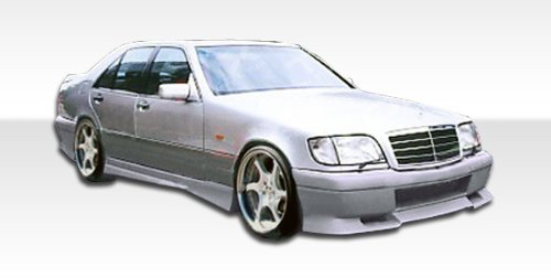 1992-1999 Mercedes Benz S Class Duraflex VIP Kit- Includes VIP Front Bumper (102491), VIP Rear Bumper (102493), and VIP Sideskirts (102492). - Duraflex Body Kits
