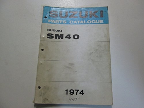 1974 Suzuki Snowmobile SM40 Parts Catalog Manual WORN STAINED**