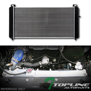 Topline Autopart Aluminum Core Replacement Radiator Cooler For AT Automatic Transmission For 07-14 Chevy Tahoe / GMC Yukon / Hybrid / Denali / XL 1500 4.8L 5.3L 6.0L 6.2L V8 Engine DPI (Gmc Yukon Performance Engine)
