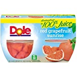 Expect More Dole Fruit Bowls Red Grapefruit in a Blend of 100% Fruit Juice, 3 ct. / 48 oz