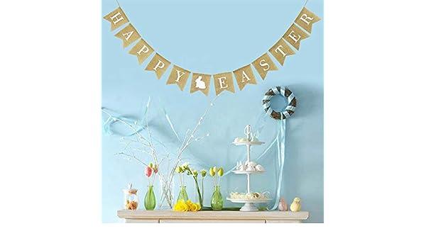 Pascua Mejor decoración para el hogar! Beisoug Party Arpillera ...