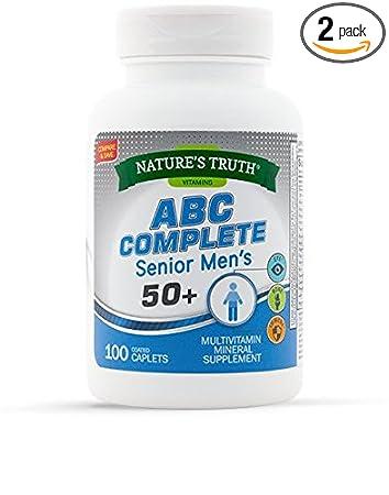 Amazon.com: Natures Truth ABC Complete Mens 50+ Multivitamin 100 ...