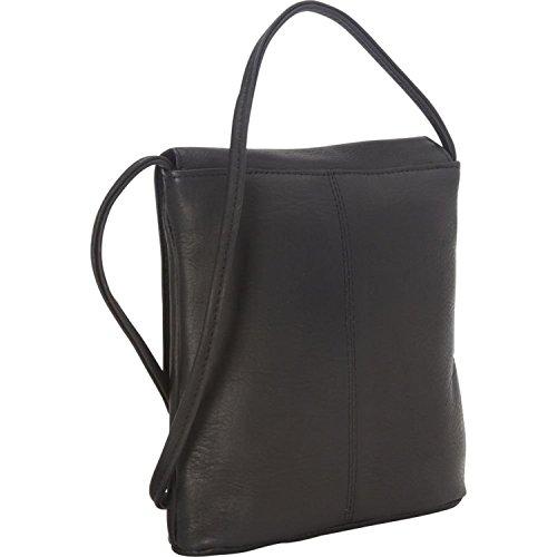 Leather Crossbody Royce Bag Small Leather Vaquetta Black Flapover PRETvq