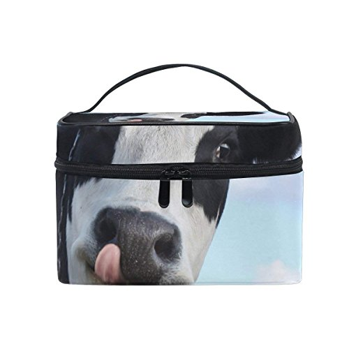 Toiletry Bag Funny Cow Cosmetic Bags Travel Makeup Train Cases Storage Organizer