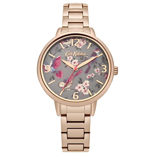 Cath Kidston Birds - Cath Kidston CKL001RGM Ladies British Birds Rose Gold Plated Bracelet Watch
