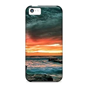 New Cute Funny Multicolor Shore Case Cover/ Iphone 5c Case Cover by icecream design