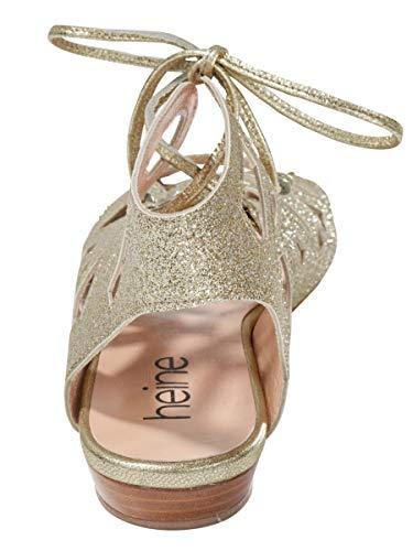 Alla Con Sandalette Caviglia Donna Heine Gold Cinturino StC5q1w