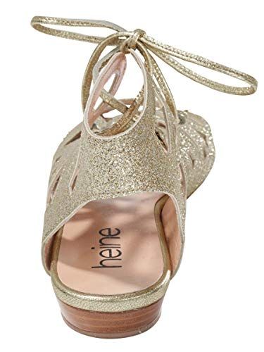 Sandalette Gold Heine Cinturino Con Donna Alla Caviglia 4Yw0qwdP