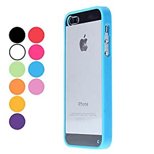 Transparent Design Durable Hard Case for iPhone 5/5S (Assorted Colors) --- COLOR:Pink