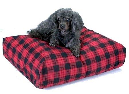 Snoozer Rectangle Pillow Pet Bed Snoozer Rectangle, All Fabric, Medium, Denim