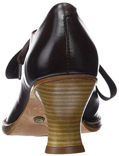 De Skin Punta Chestnut Marrón chestnut Cerrada Con Restored Tacón Mujer Para Zapatos Neosens qantx5B