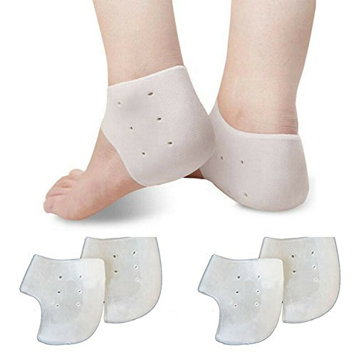Plantar Fasciitis Heel Cushion Foot Sleeve - UNISEX Gel Heel Protector to Instantly Relieve Pain and Pressure - Efficient Remedy for Sore Feet Moisturizing Sock (2 Pairs)