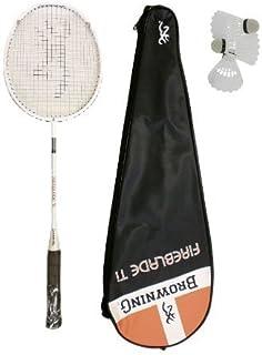 Browning Fireblade Ti - Racchetta da badminton, 3 palline incluse