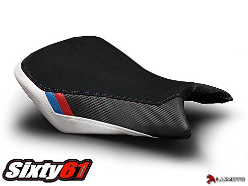 Luimoto Seat Cover for BMW S1000RR 2015 2016 2017 2018 Black Carbon Fiber Rider (Cover Luimoto Seat)