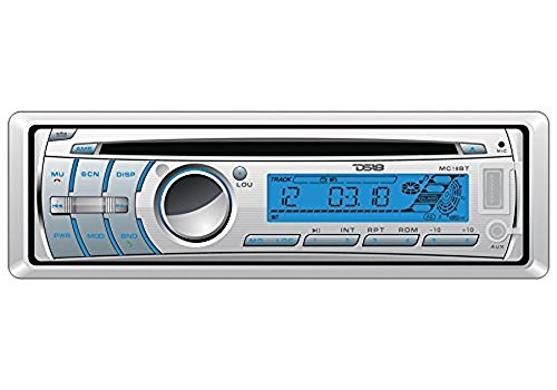 DS18 HYDRO MC18BT Single Din In-Dash Detachable Face Car Radio Receiver with CD/USB/Bluetooth/AM/FM/AUX Player