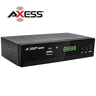 Axess ATSC Digital Converter Box for Analog TV, Analog TV Converter Box with Record and Pause Live TV, USB Multimedia Playback, HDTV Set Top Box for 1080p