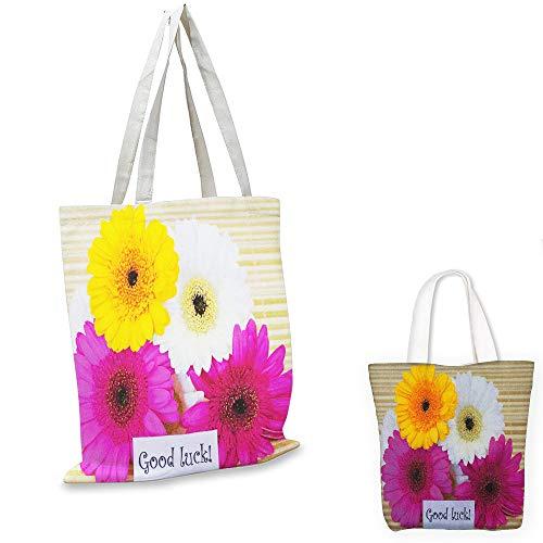 non woven shopping bag Going Away Party Good Luck Note Colorful Gerbera Daisies Botanical Composition Art Print Multicolor funny reusable shopping bag