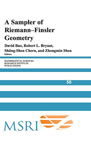 A Sampler of Riemann-Finsler Geometry (Mathematical Sciences Research Institute Publications)