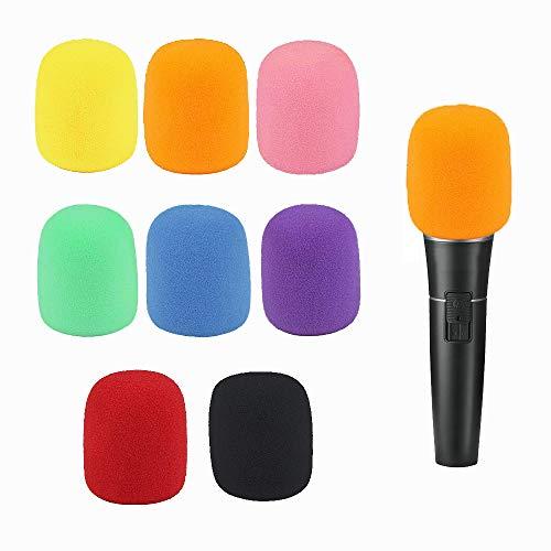 Handheld Stage Microphone/Karaoke Microphone Windscreens Sponge Foam Covers (Pack of 8, with Assorted (Stage Foam Windscreen)