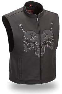 First Manufacturing Raceway Skull Vest (Black, Large)