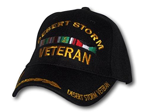 Desert Storm Veteran Black Adjustable Hat