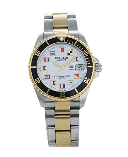 Del Mar Two-Tone Men's Nautical Diver's Watch ()