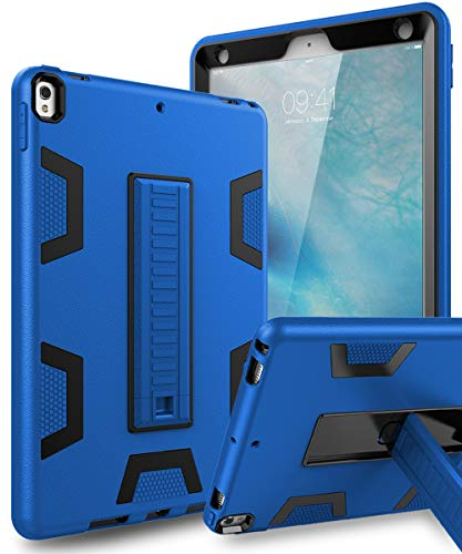 TOPSKY iPad Air 2019 Case,iPad Air 3 10.5 Case,iPad Pro 10.5 Case, Heavy Duty Rugged Shockproof Kids Proof Hybrid Sturdy Protective Cover Case for iPad Air 2019/iPad Pro 10.5 2017 Blue Black