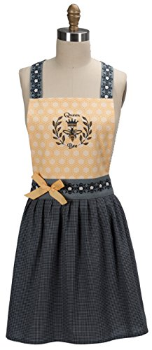Queen Bee Embroidered Hostess Apron