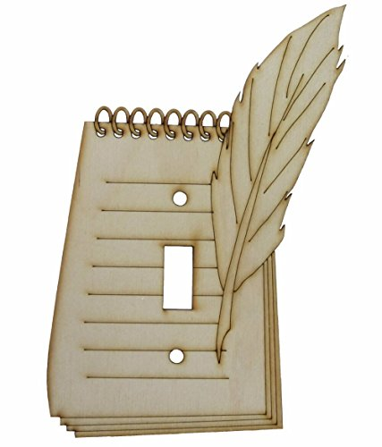 Laser Cut & Engraved Notepad Style Wood Switch Cover Switch Plate