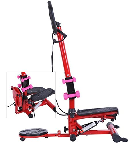 Tenive Multi-functional Aerobic Waist Twister/Stepper with Handle Bar--Fitness Machine w/ Dumbbells by Tenive